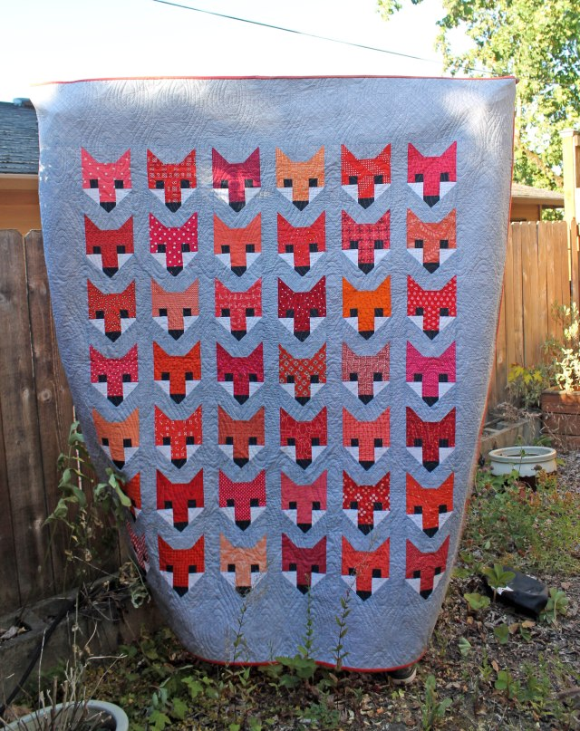finished fox quilt