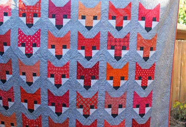 fox quilt detail