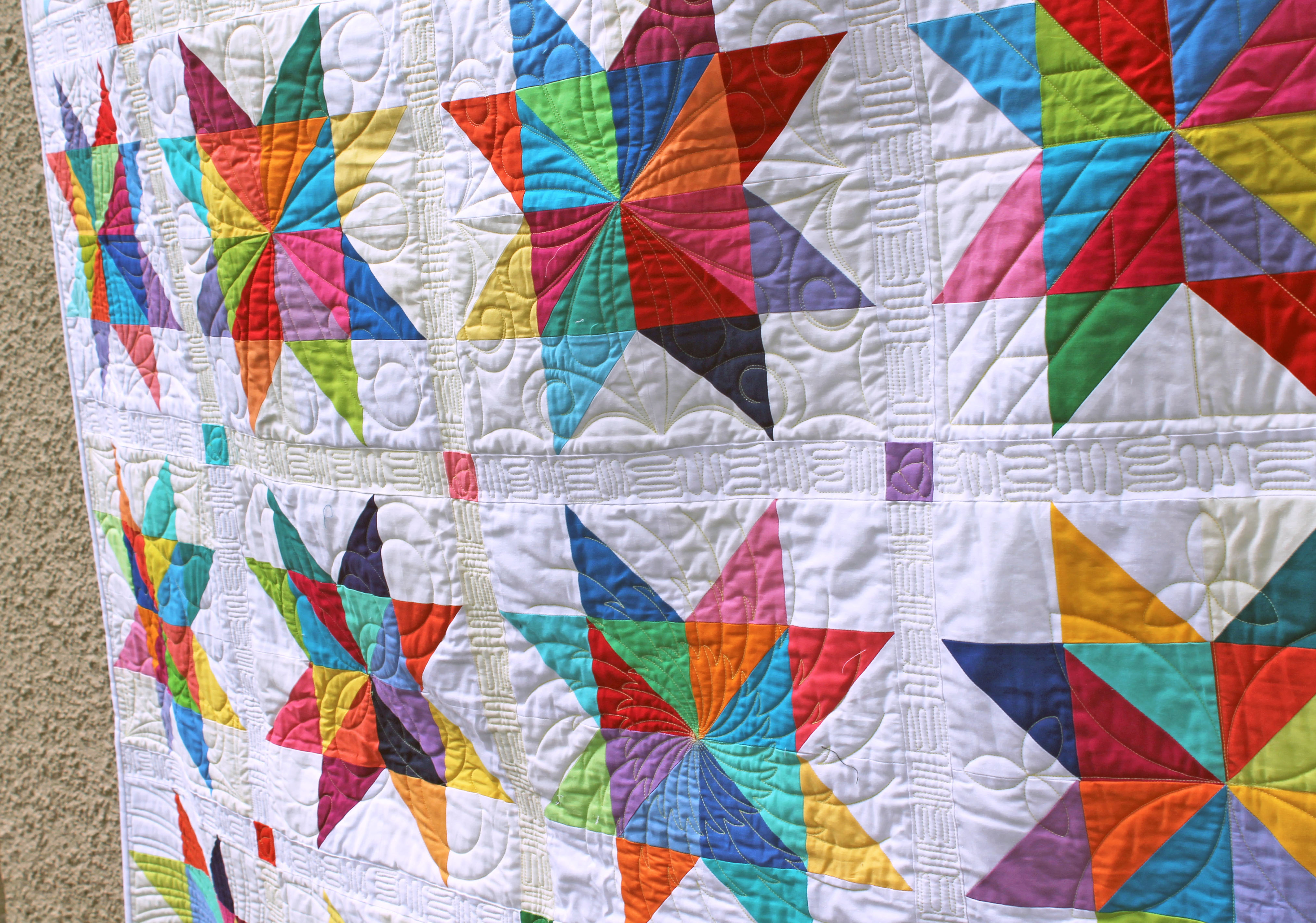 solid stars quilting detail