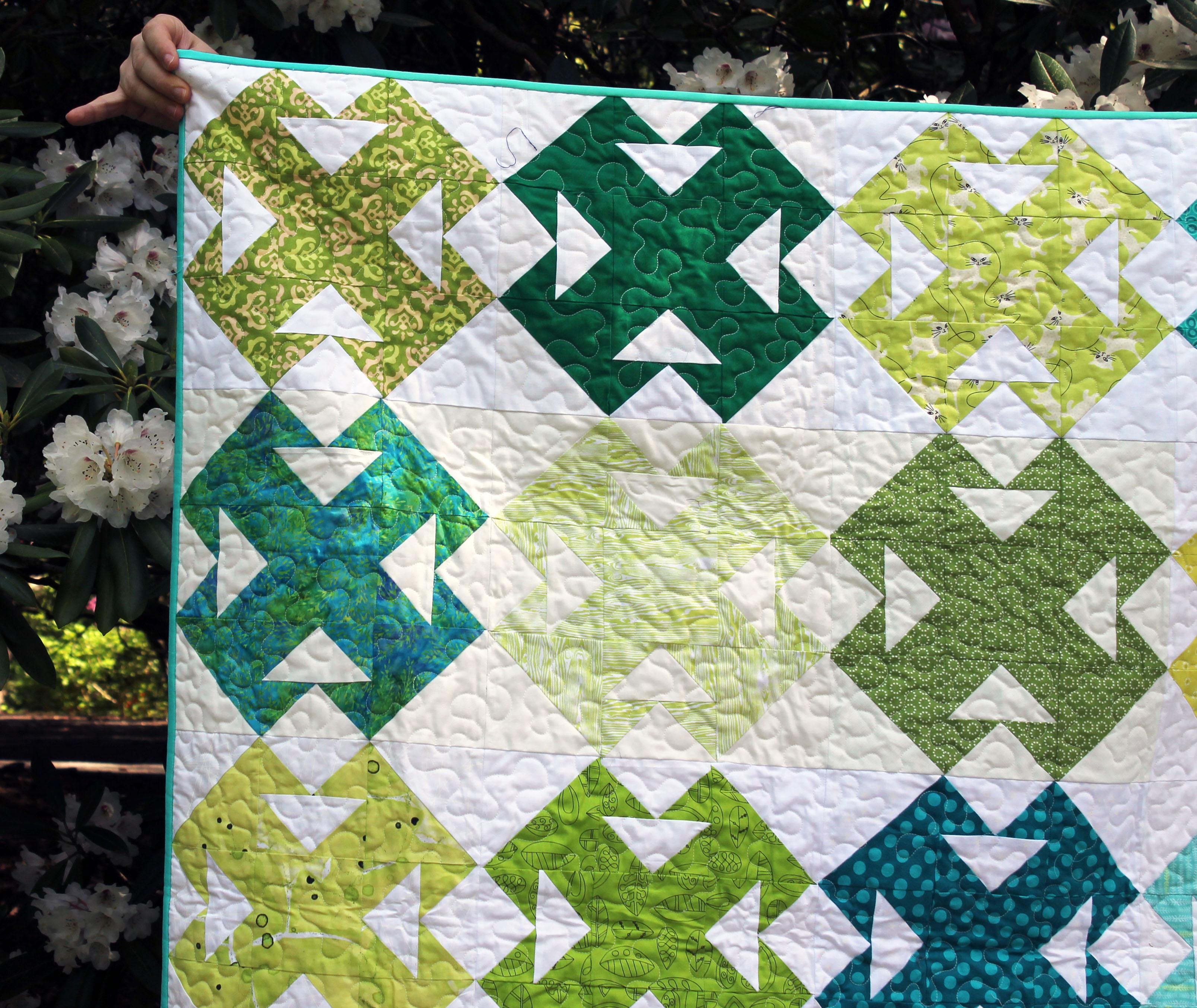green quilt detail 2