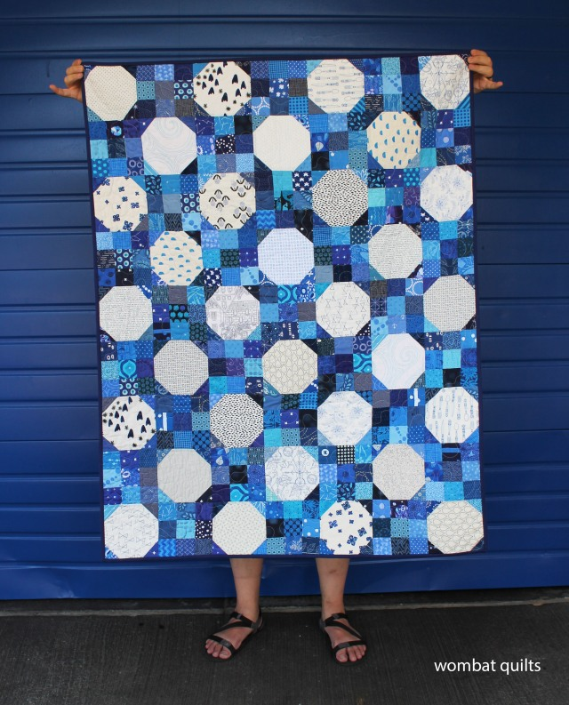 Irish chain quilt. Scrap quilt. Modern quilt.