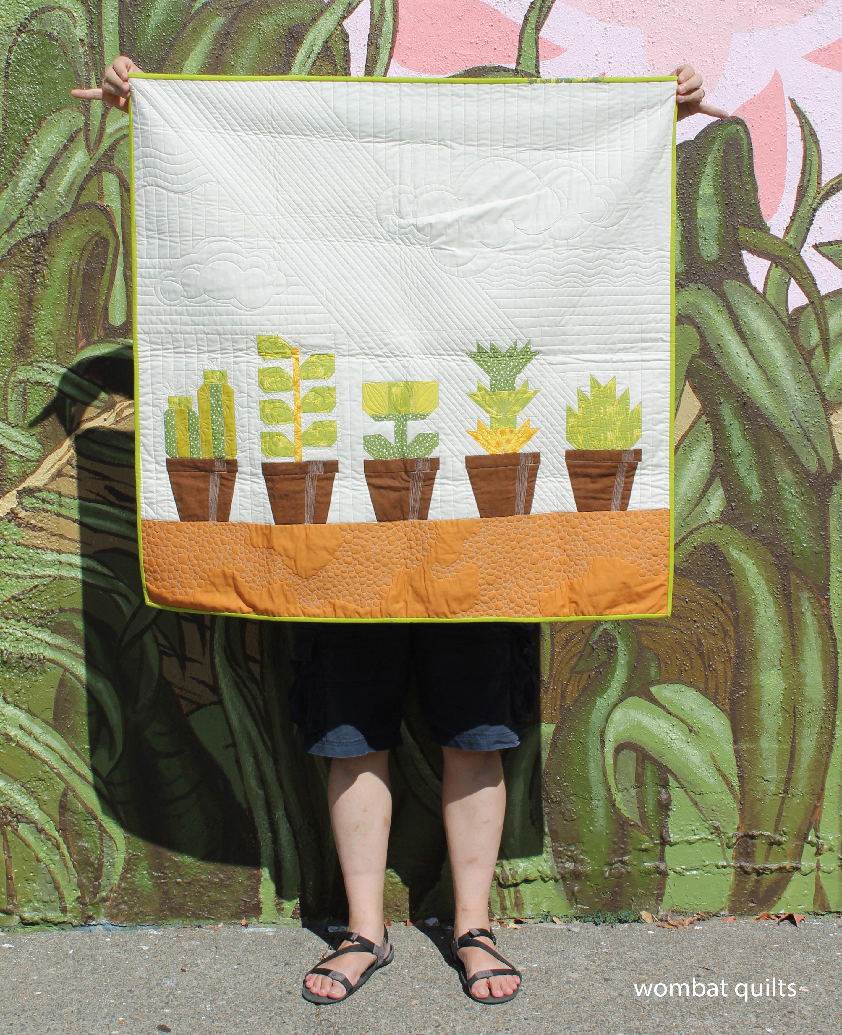pot plant quilt